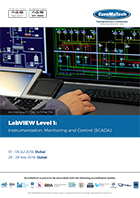 thumbnail of EL109LabVIEW (Level 1)<br><small> Instrumentation, Monitoring and Control (SCADA)</small>