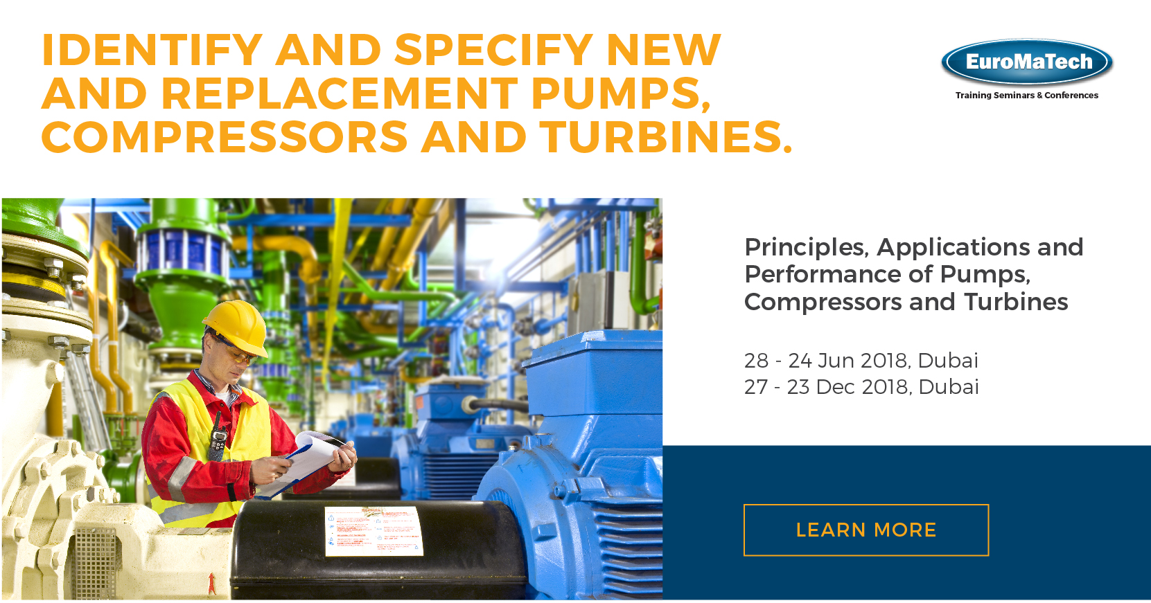 Principles, Applications and Performance of Pumps, Compressors and Turbines Training Course