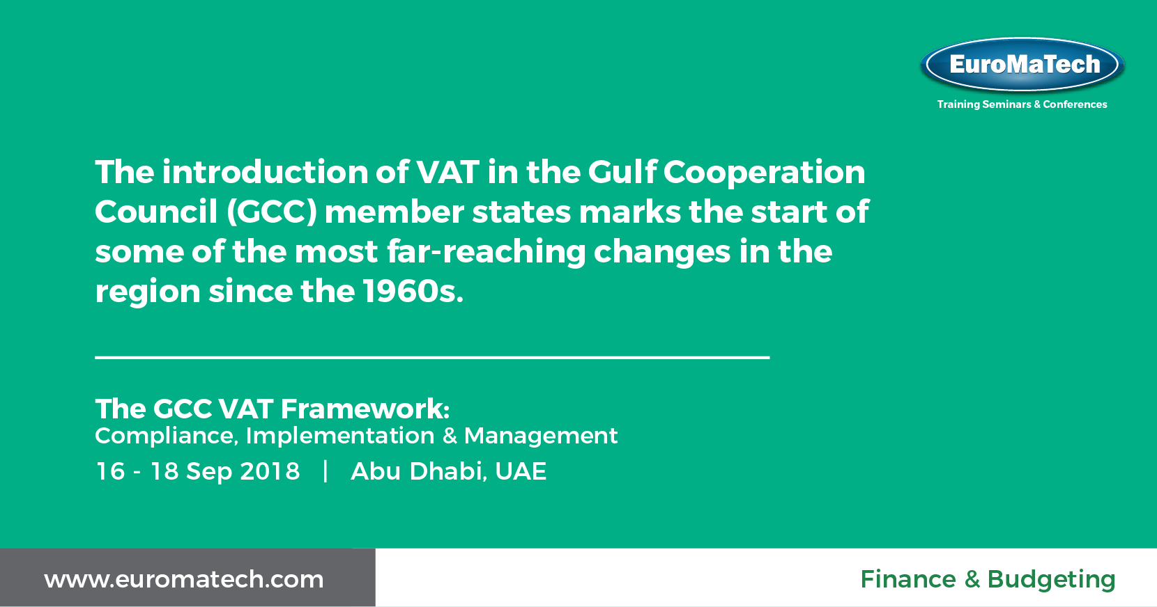 The GCC VAT Framework Training Course