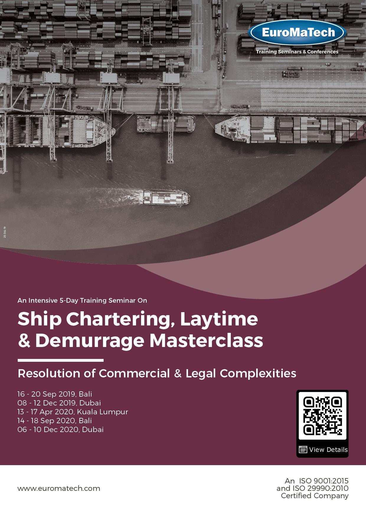 Ship Chartering, Laytime & Demurrage Masterclass Thumbnail