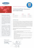 Contractual Risk, Insurance and Indemnities Thumbnail