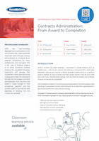 Contracts Administration: From Award to Completion Thumbnail