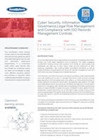 Cyber Security, Information Governance, Legal Risk Management and Compliance with ISO Records Management Controls Thumbnail