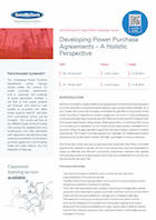 Developing Power Purchase Agreements – A Holistic Perspective Thumbnail