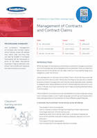 Management of Contracts and Contract Claims Thumbnail