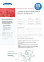 Leadership and Management Skills for Supervisors Thumbnail