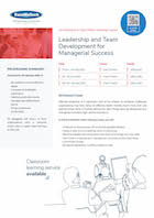 Leadership and Team Development for Managerial Success Thumbnail
