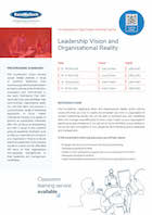 Leadership Vision and Organisational Reality Thumbnail