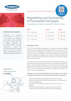 Negotiating and Contracting in Procurement & Supply Thumbnail